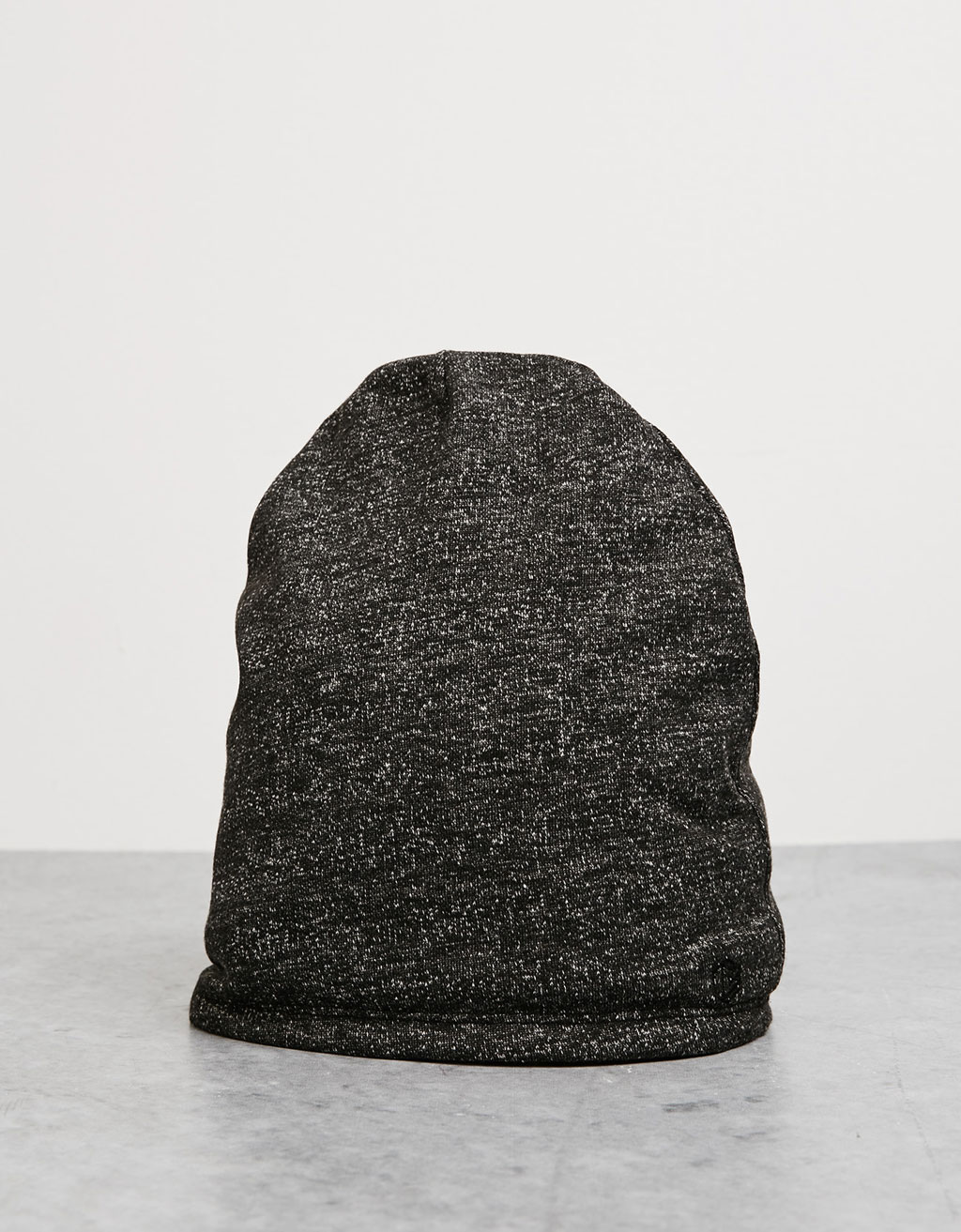 Reversible terry beanie