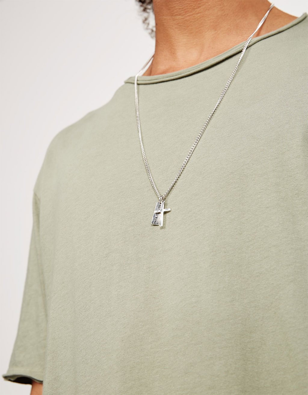 Cross & plate pendant