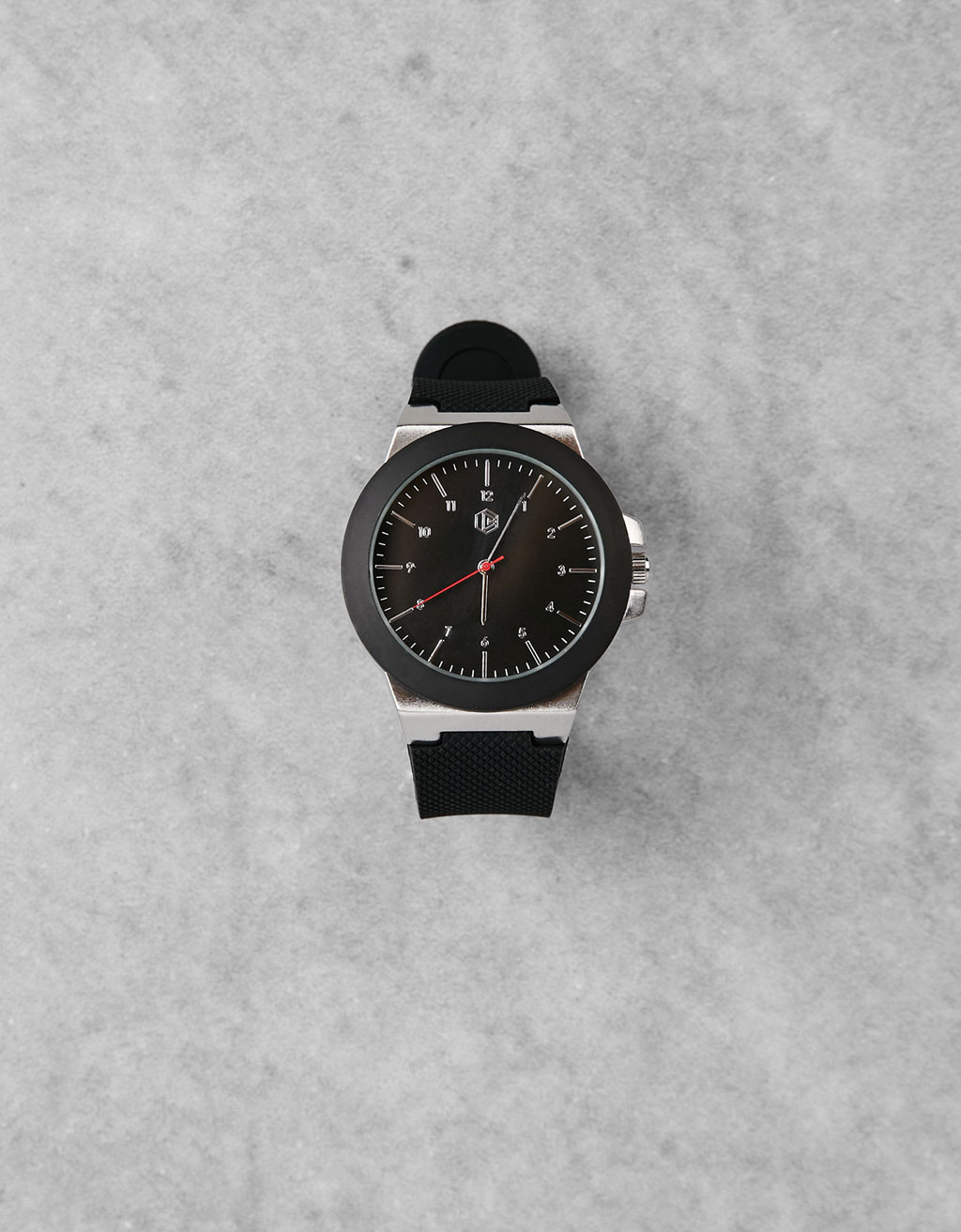 Contrast Metal&Rubber watch