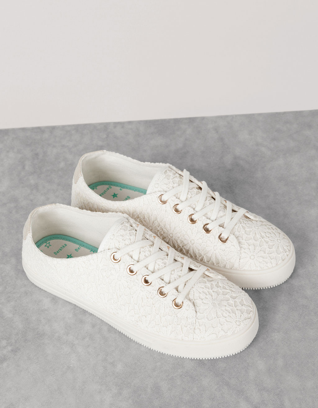 BSK lace-up fabric sneakers