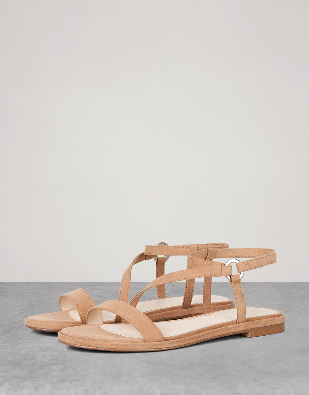 BSK Flat Strappy Sandals