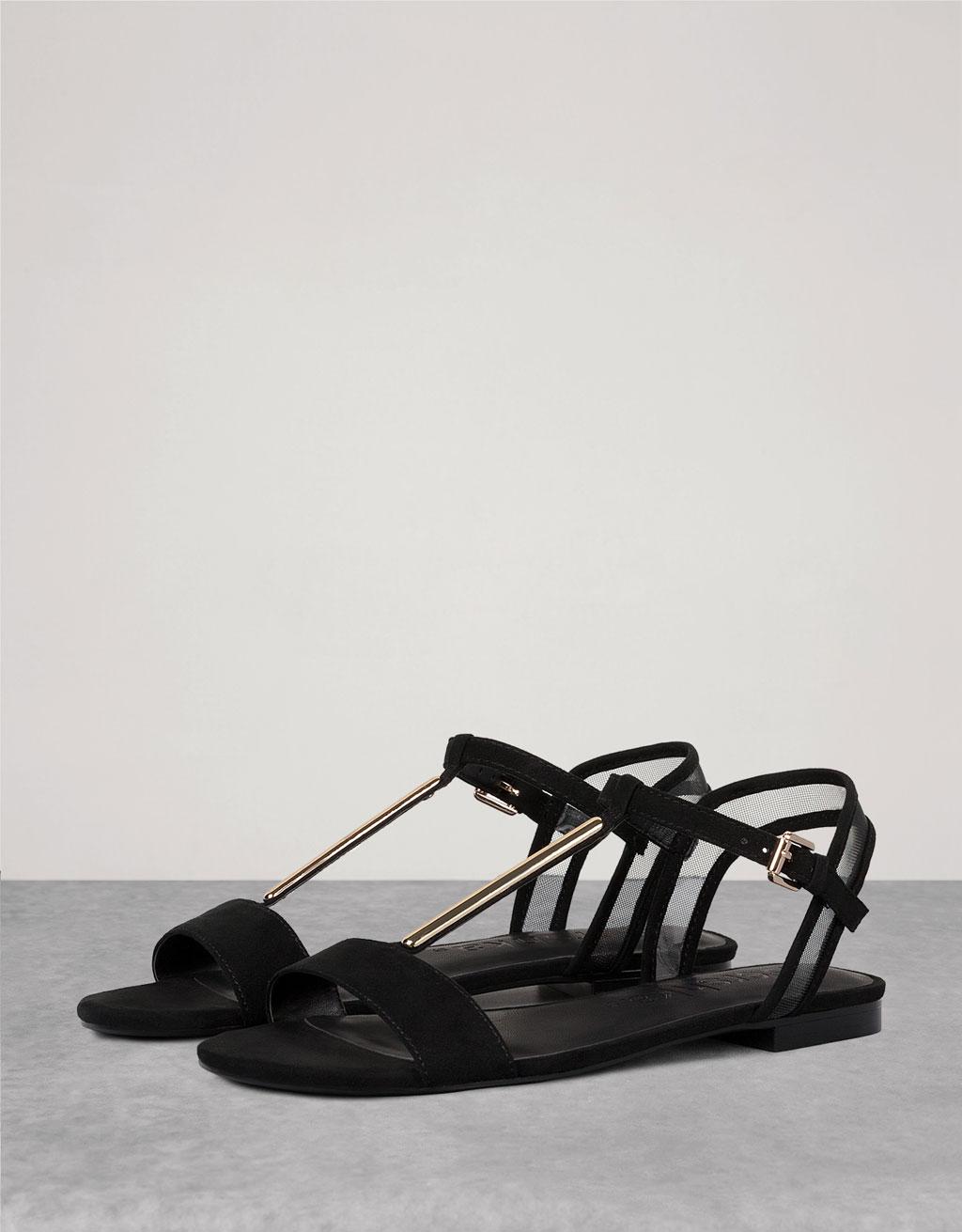 Detail flat sandals