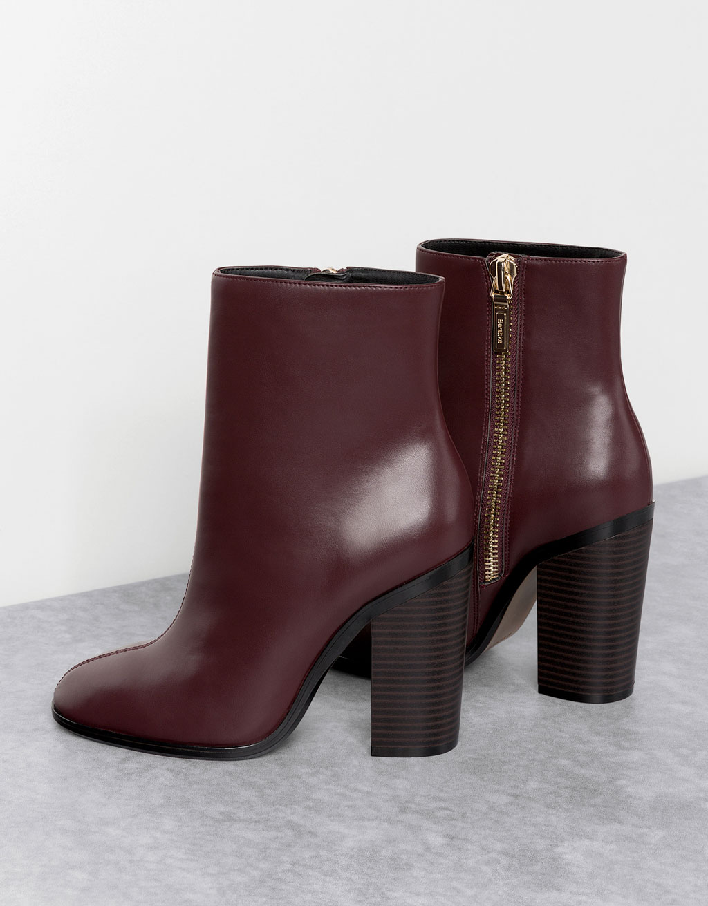 Heeled ankle boots with tall bootleg