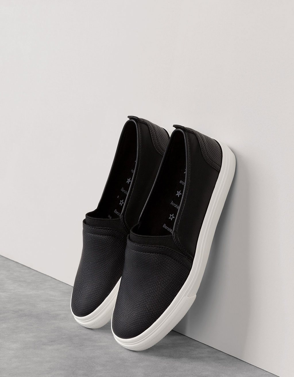 Embossed slip-on sneakers