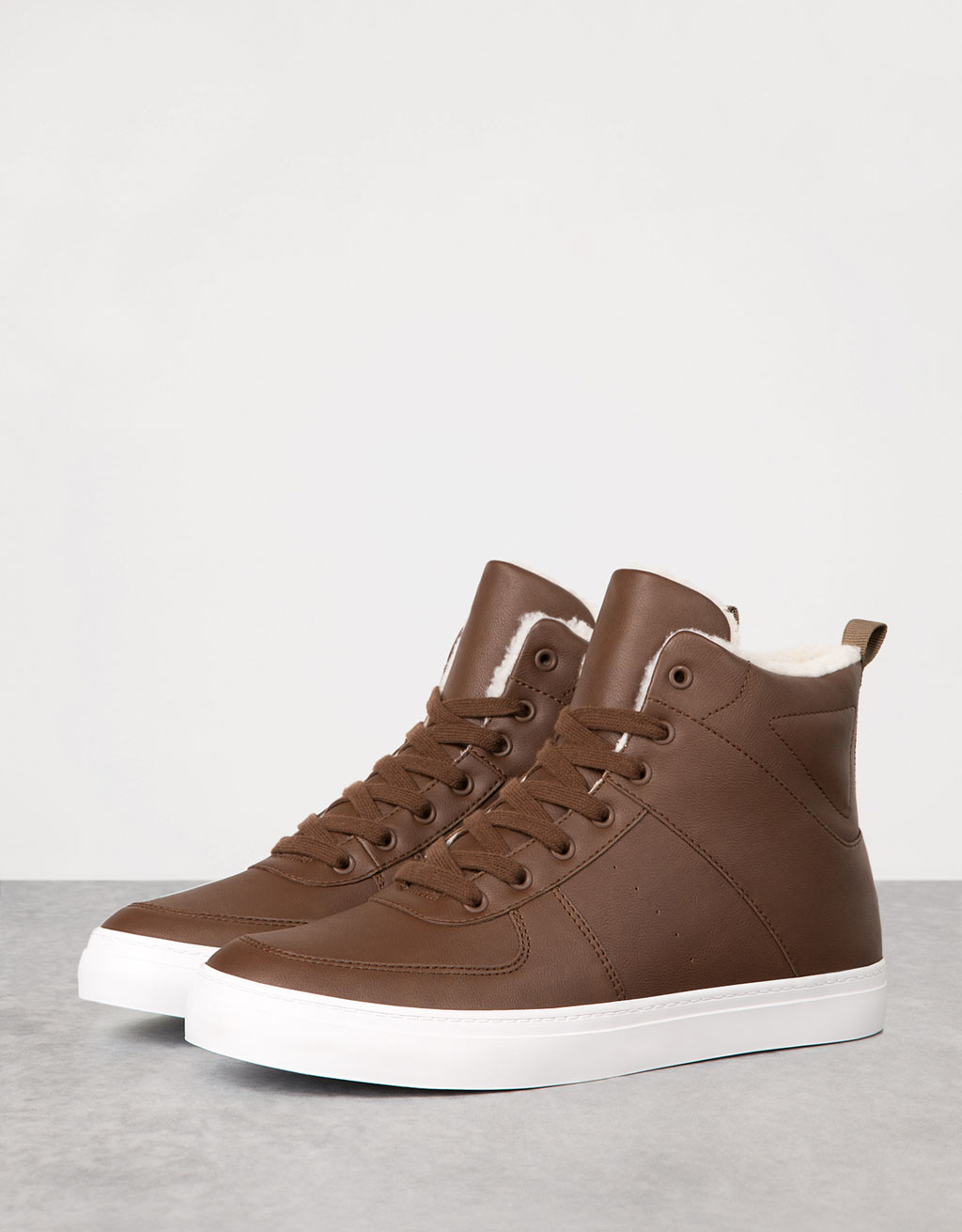 Men's lined high tops