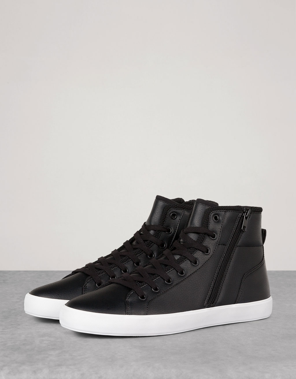 Men's zipper high tops