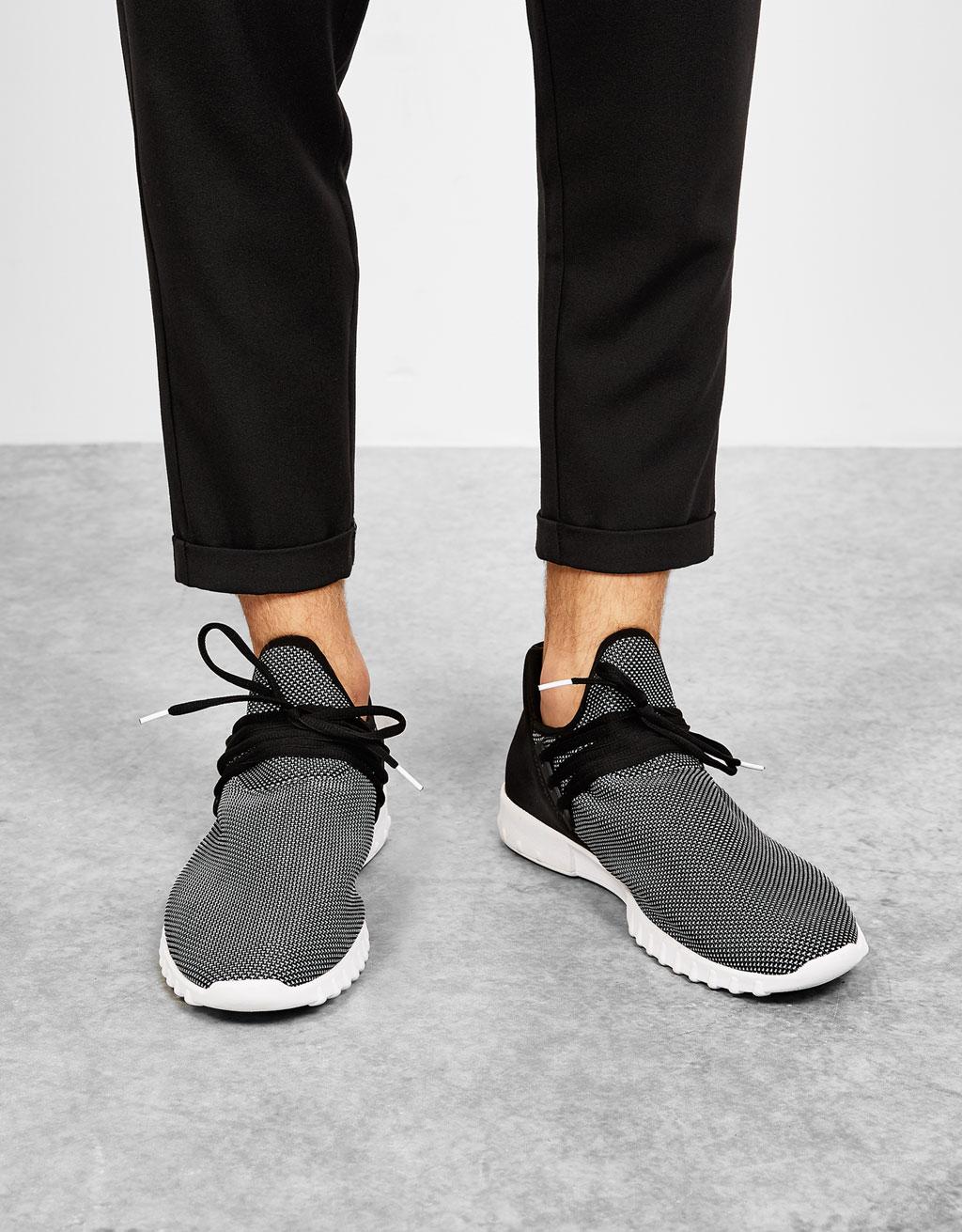 Men's faux sock sports shoes