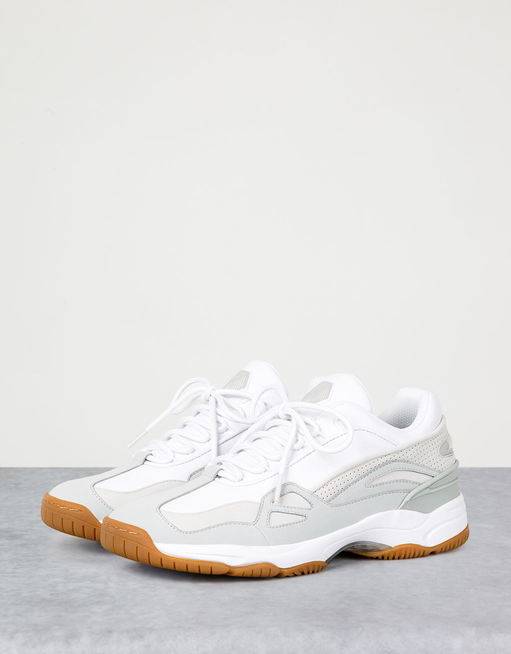 Men's caramel-sole combined sport shoes