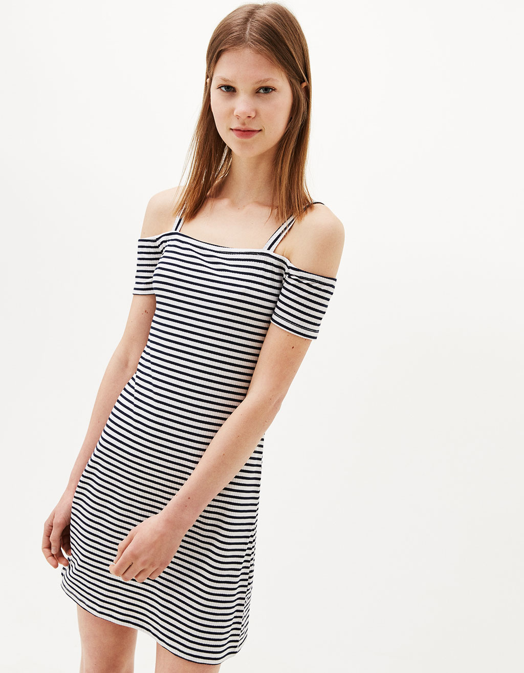 Strappy off-the-shoulder dress
