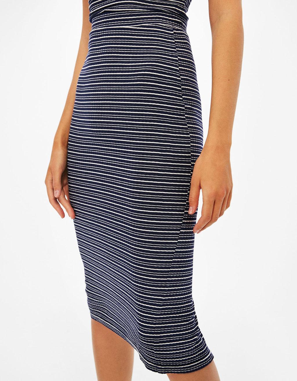 Long ribbed skirt