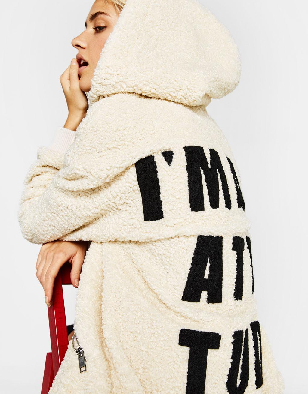 Teddy zip-up hoodie