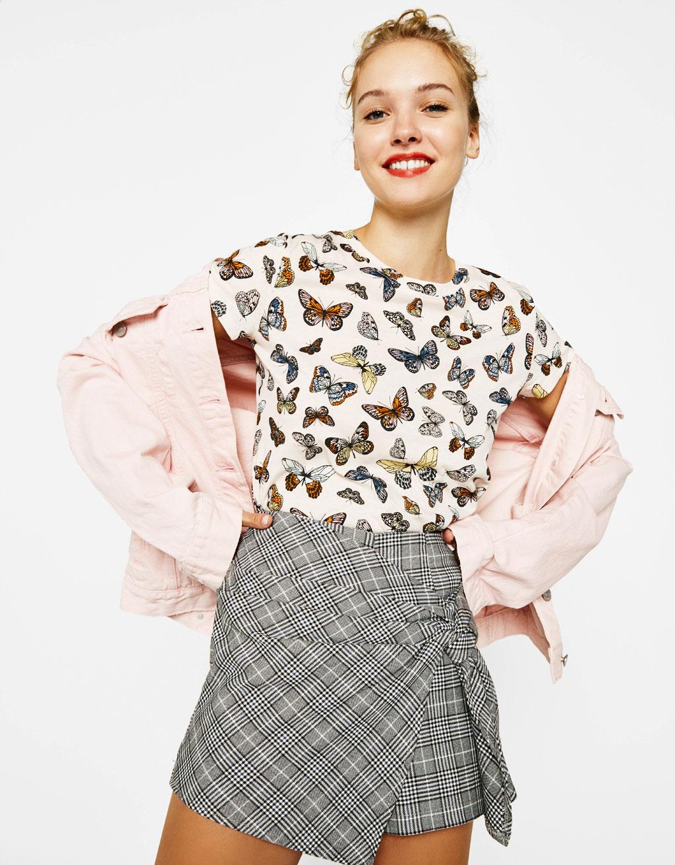 T-Shirt aus Baumwolle mit Allover-Print