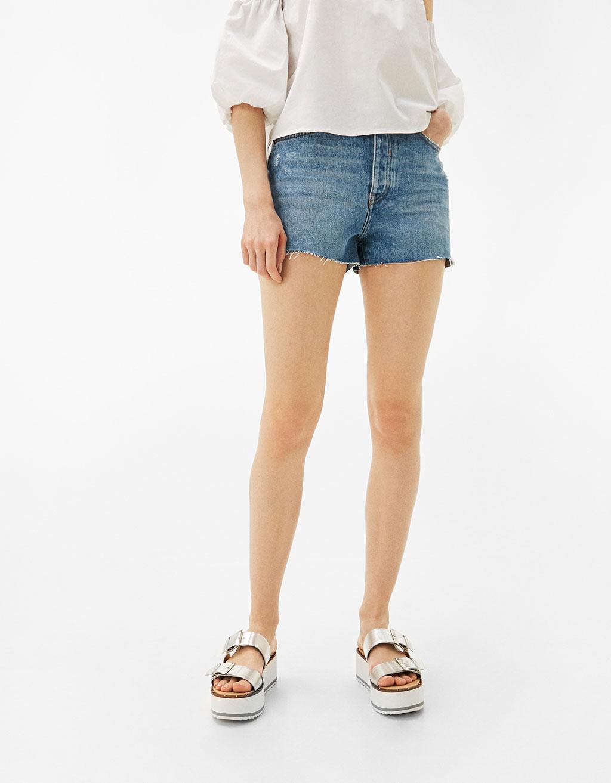 Mom fit vintage denim shorts