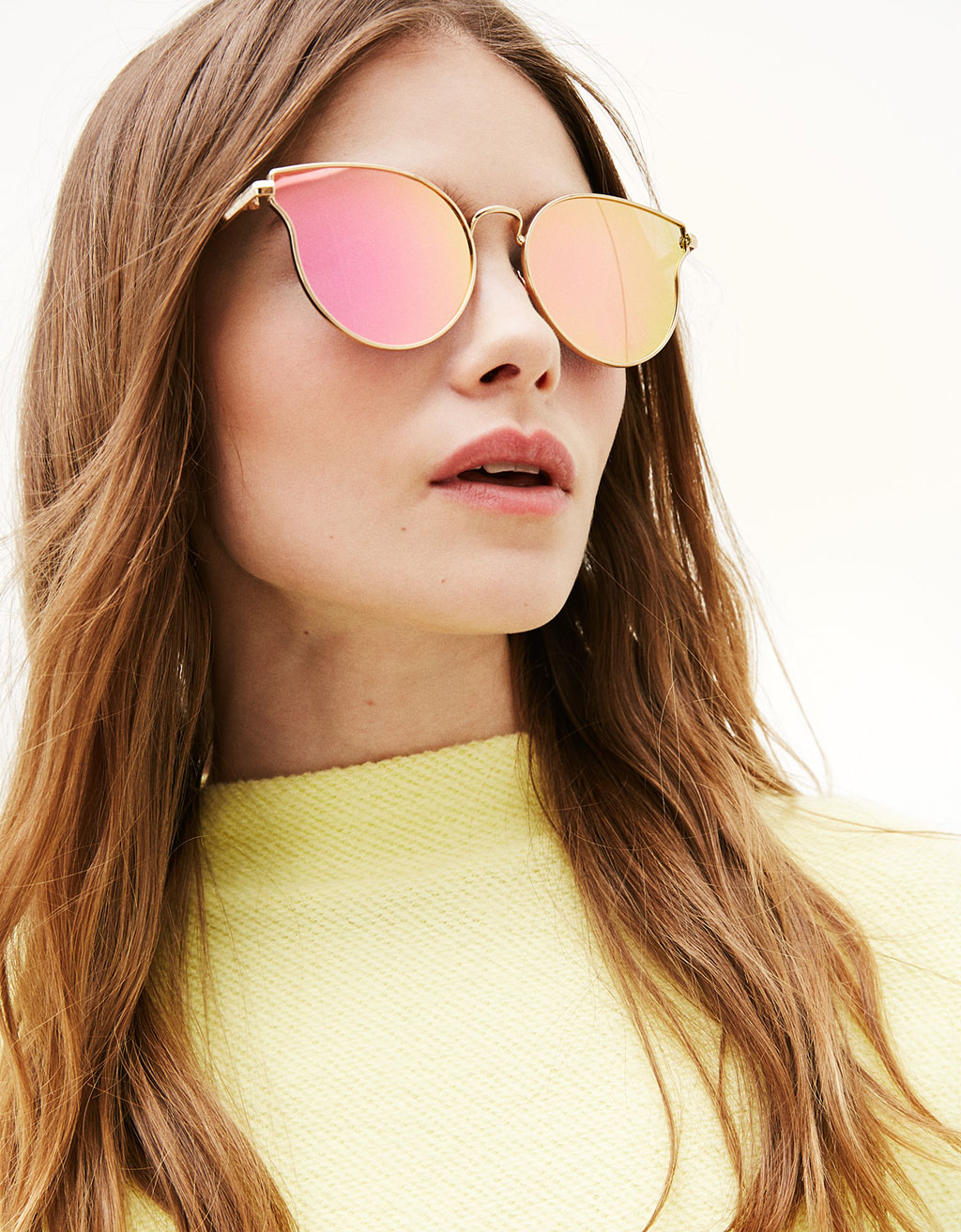 Cateye mirrored sunglasses