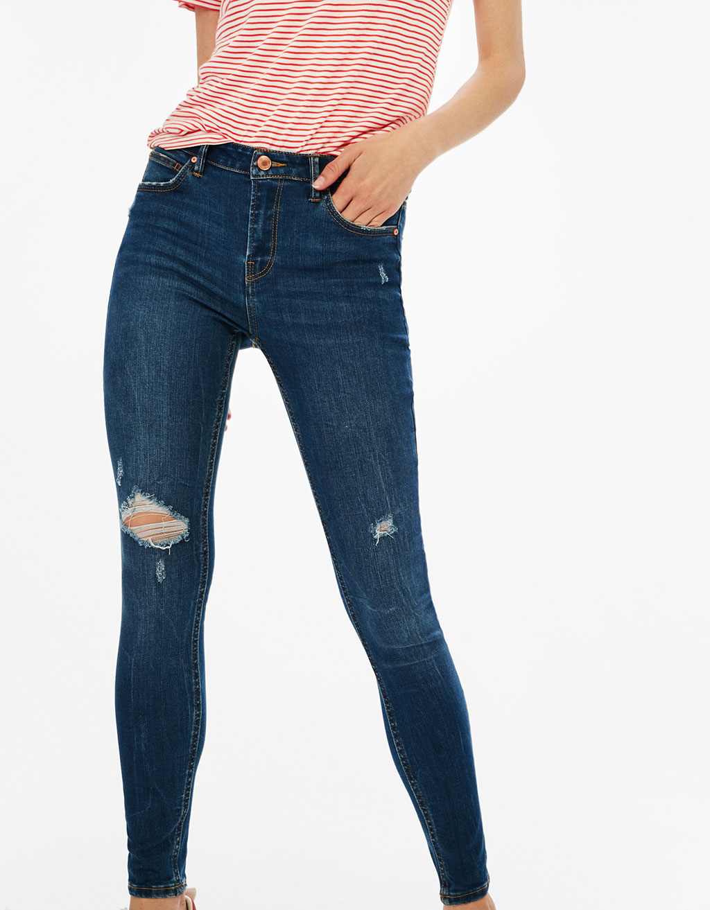Skinny jeans with five pockets