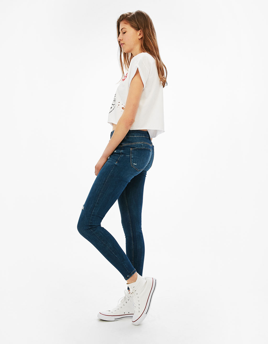 Jeans Push Up med 5 fickor