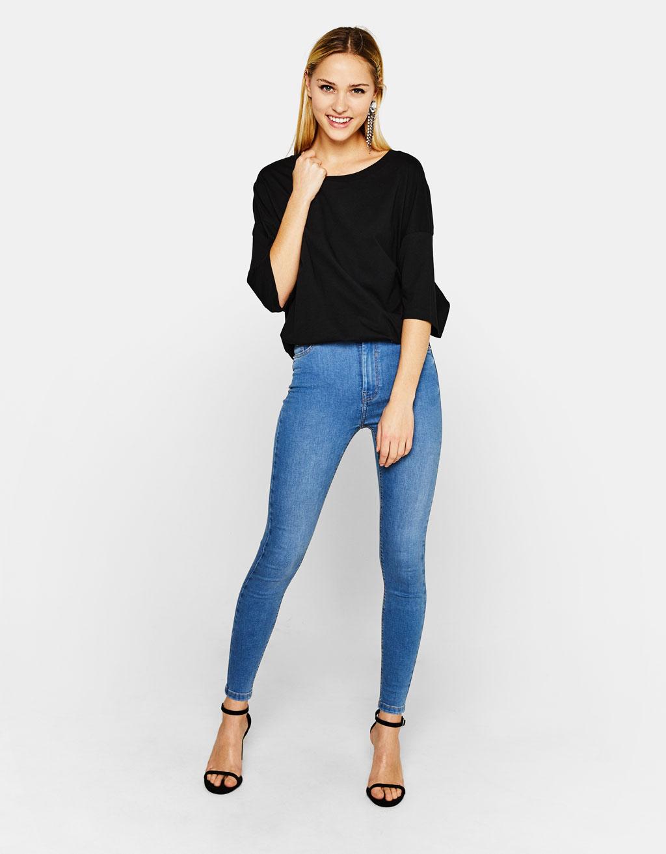 Calças de ganga skinny high waist