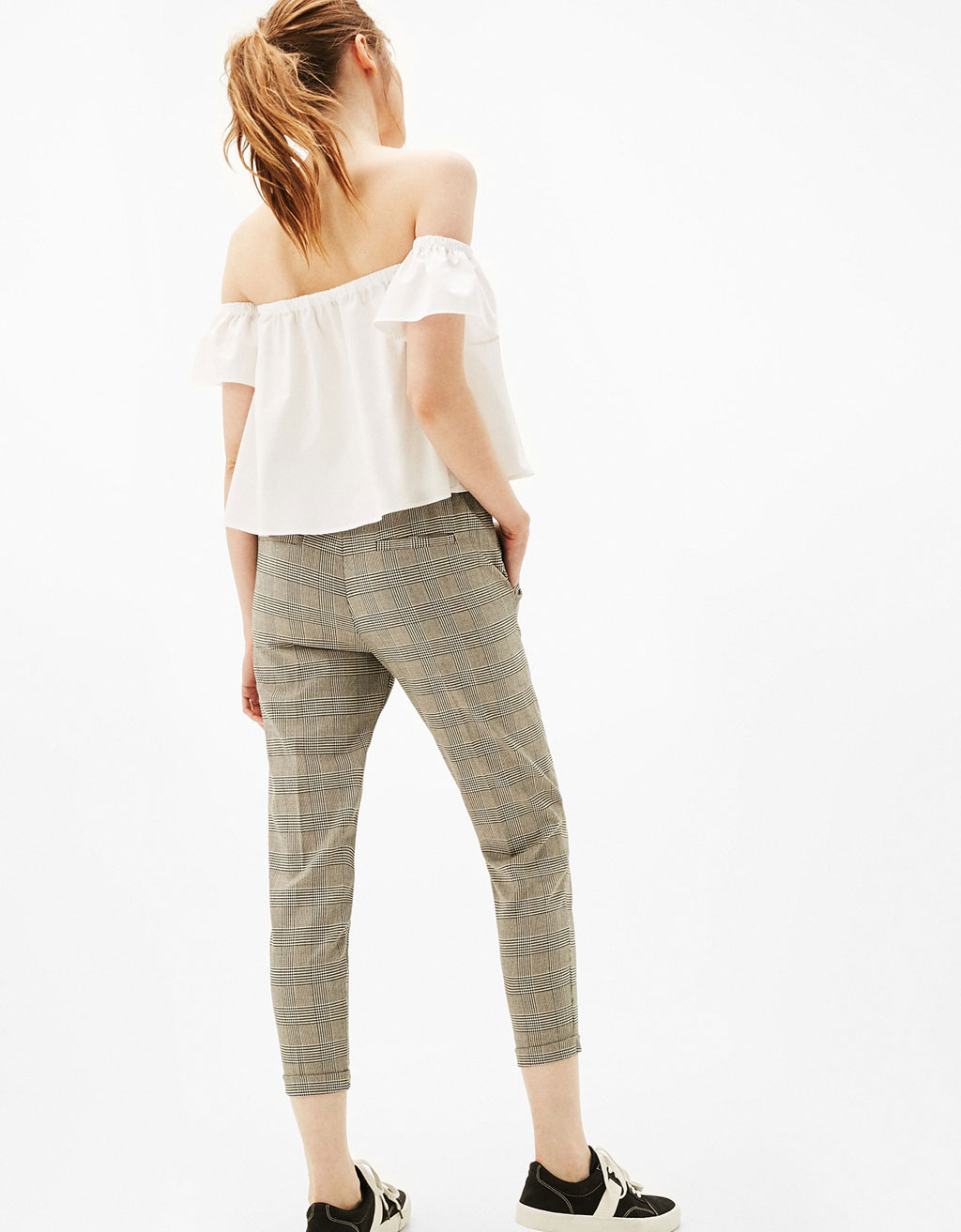 Tailoring pleat front jogger pants