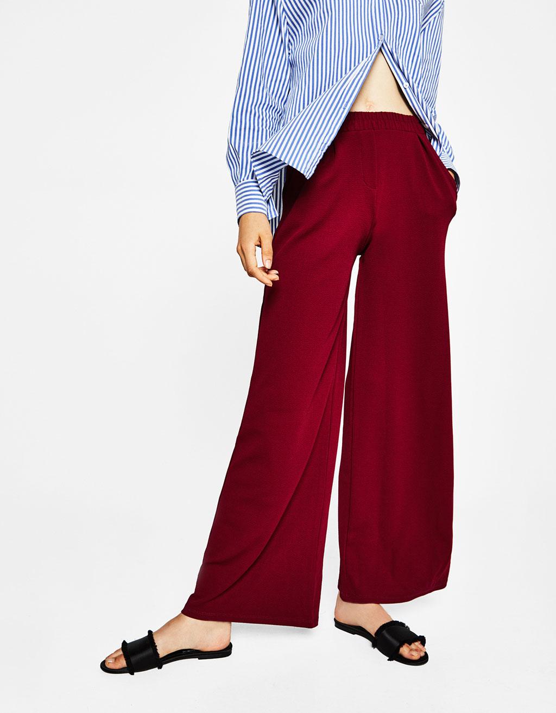 Панталон тип кюлоти с джобове