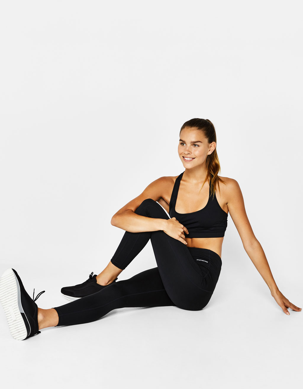 Technical body sculpt sports trousers