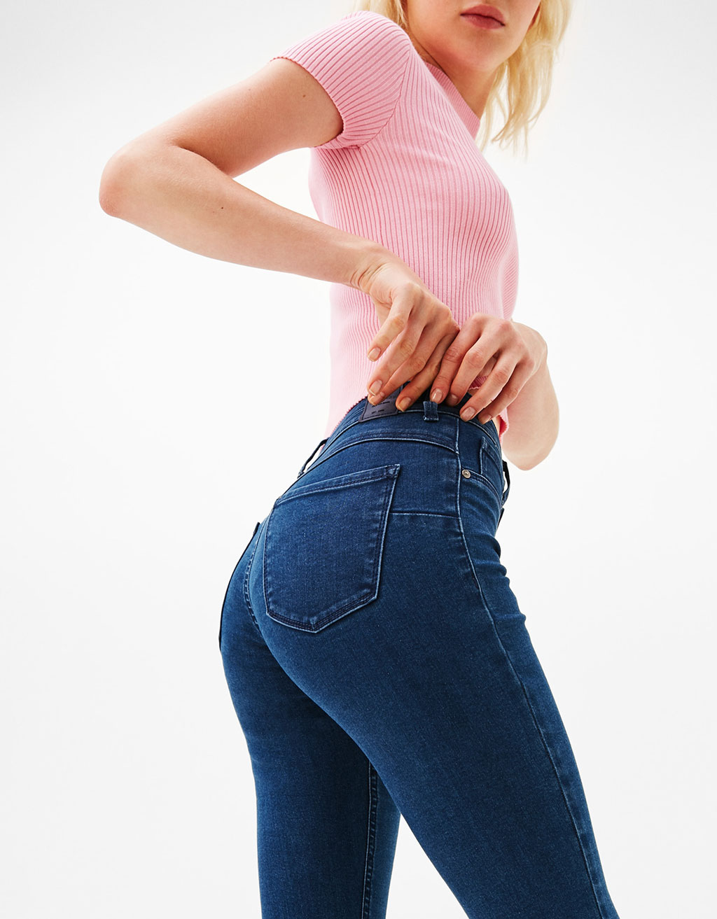 Stretchy push-up jeans