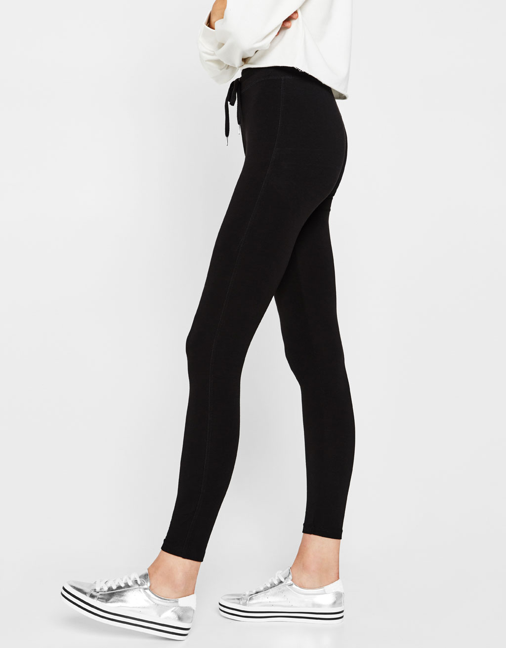 Legging molleton cordon