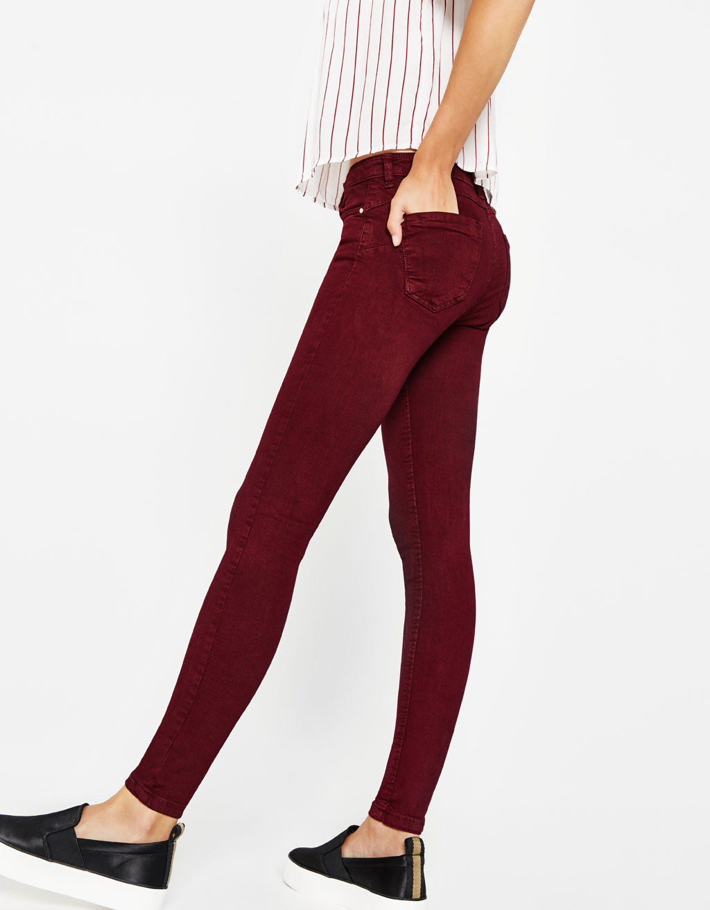 Five-pocket push-up jeans