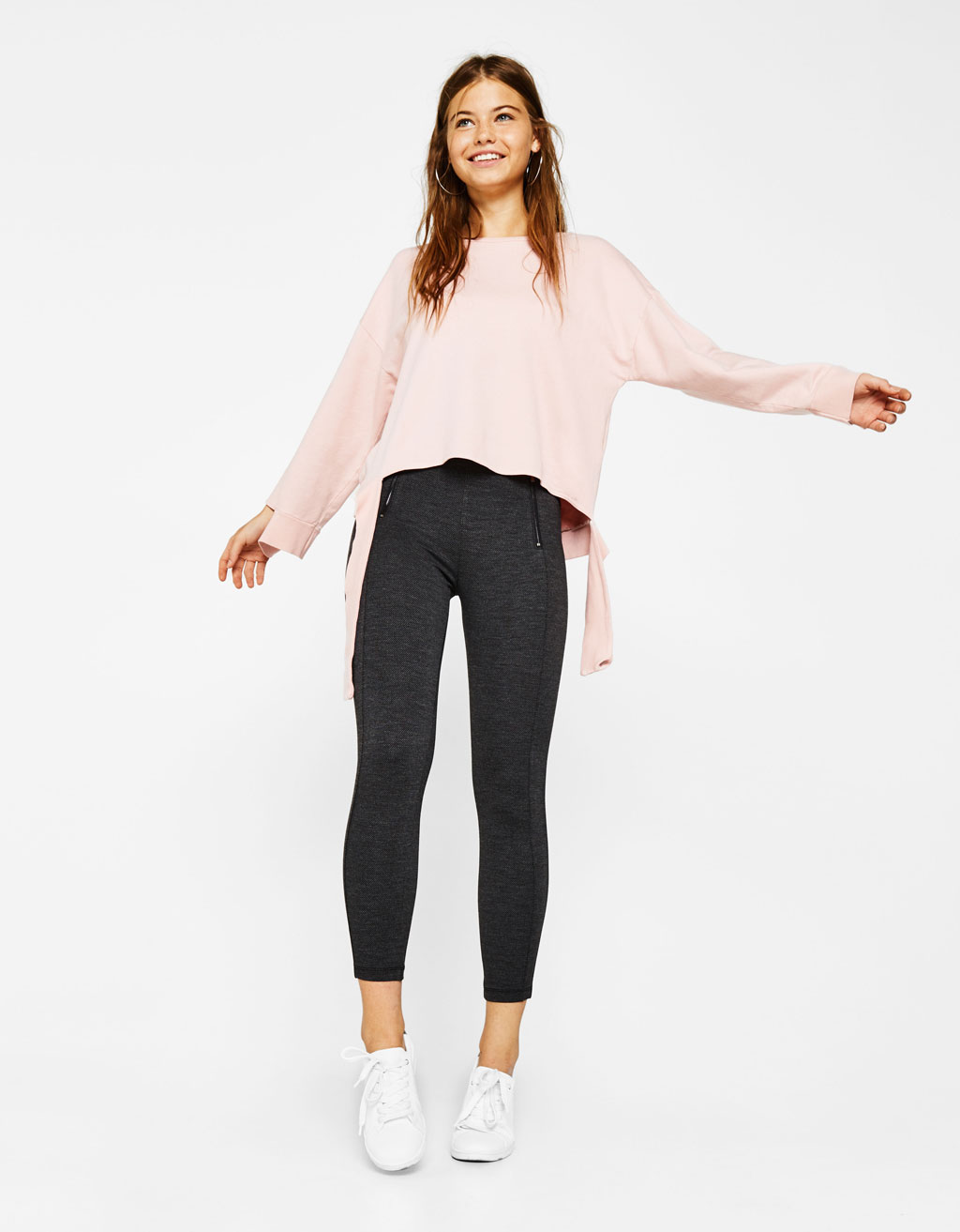 Ponte di roma knit trousers