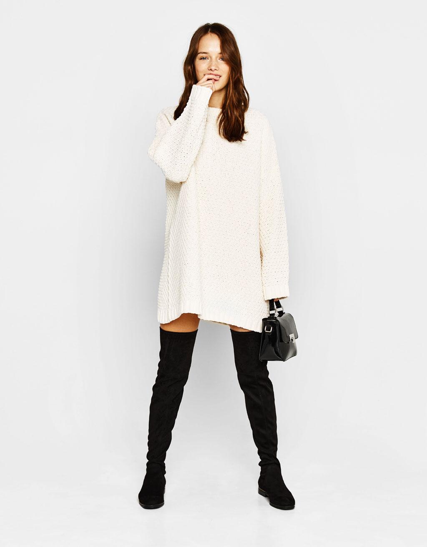 Chenille-Kleid