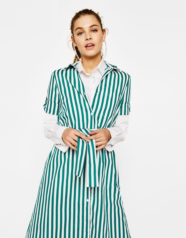 Collezione bershka primavera estate 2016 abbigliamento low cost anni - Vestito Chemisier Di Popeline