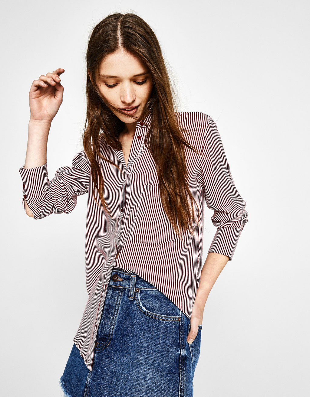 Flowing shirt with pocket