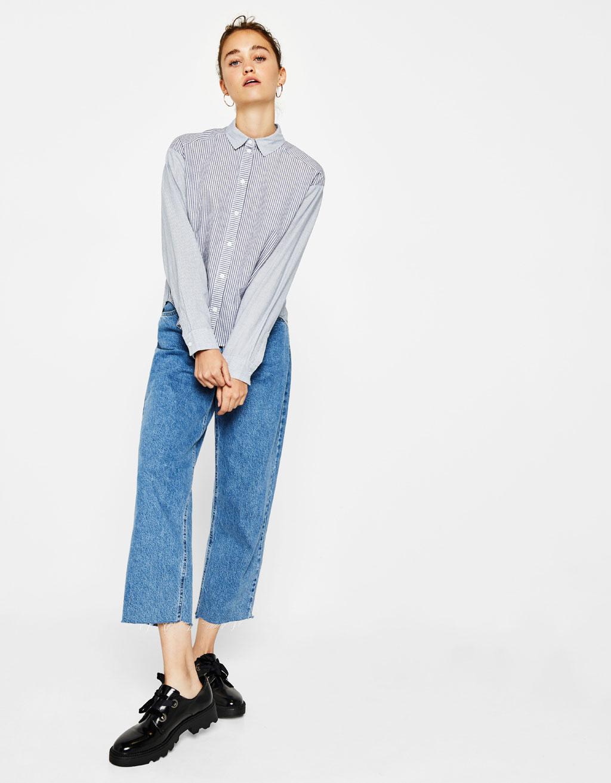 Camisa con raya tejida