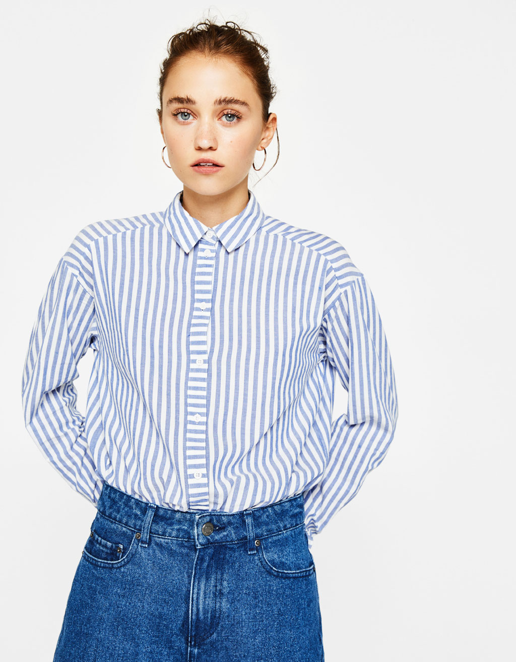 Striped fabric shirt