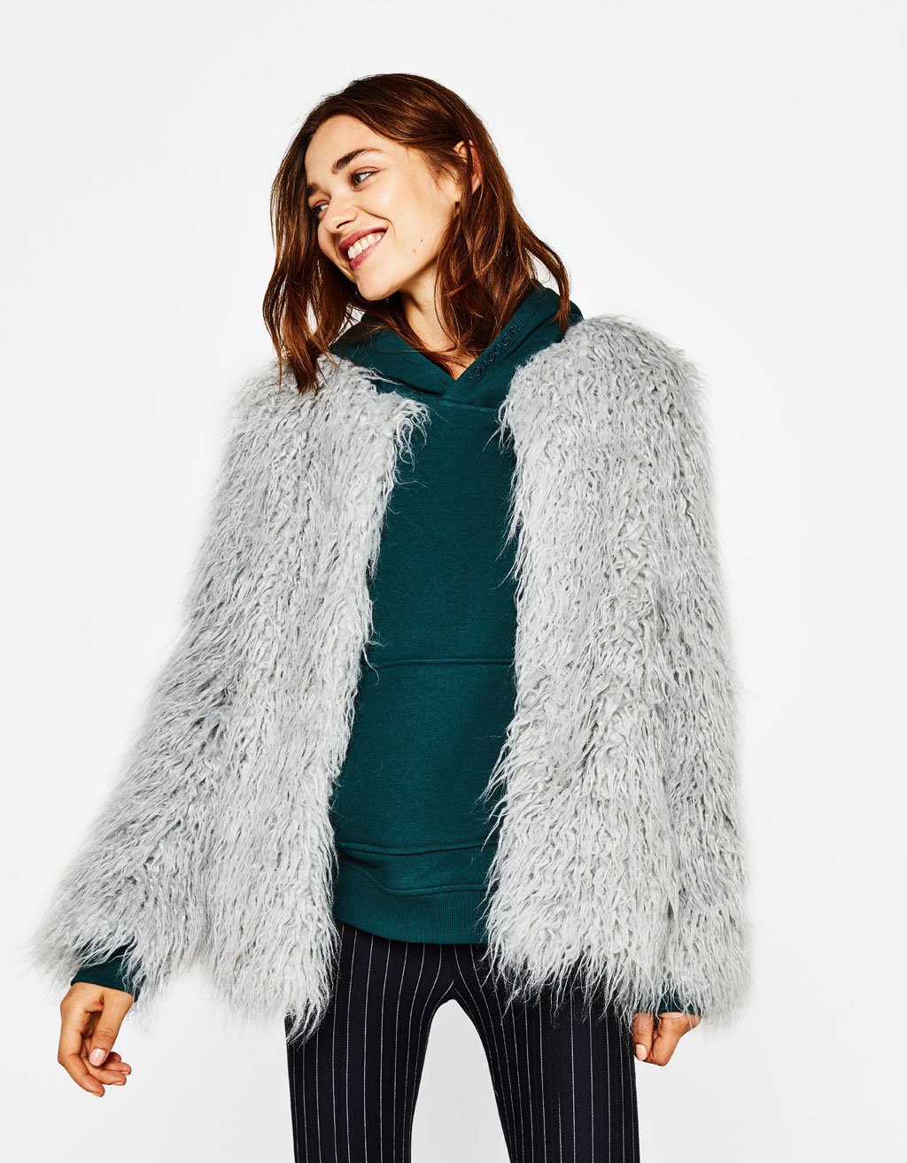 Short faux fur coat