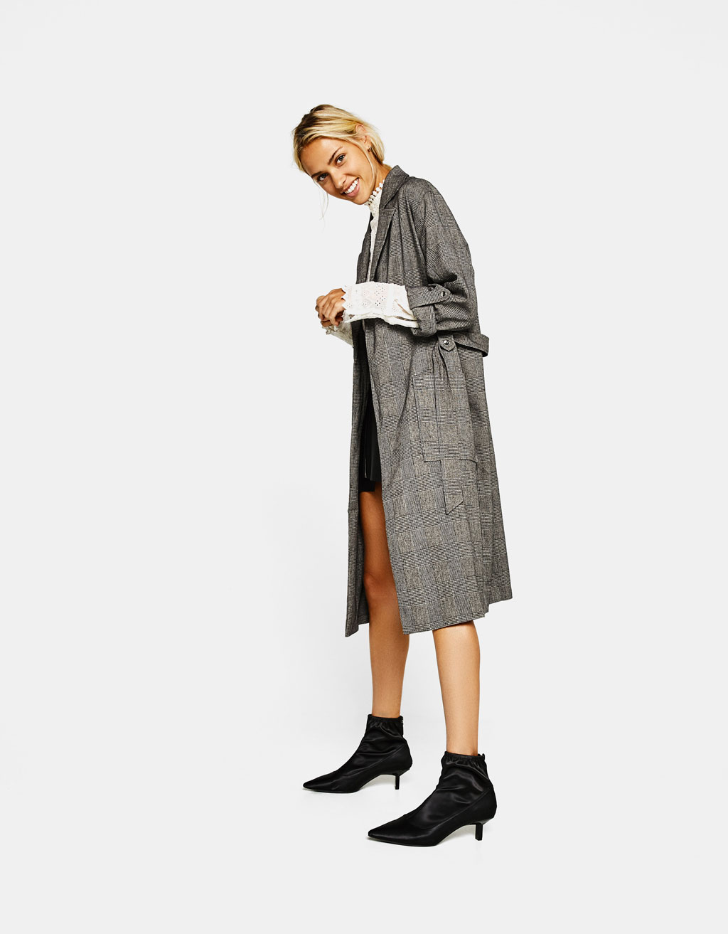 Long tailored trench coat