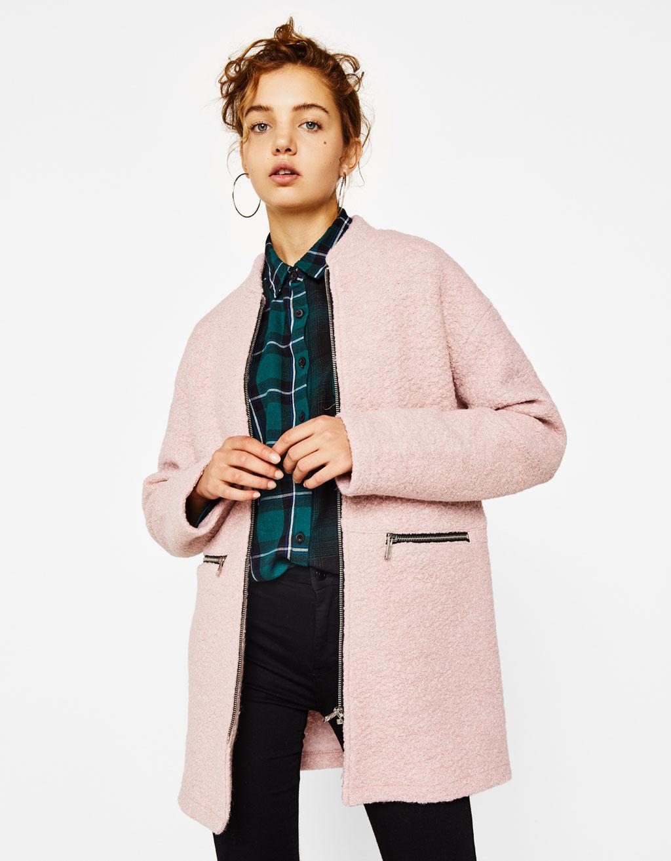 Abrigo lana cremallera