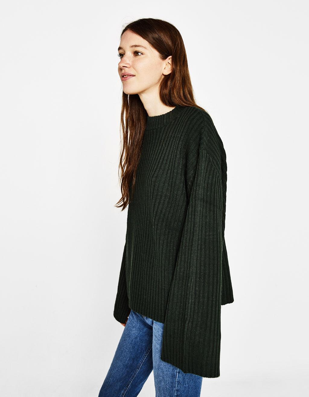맥시 슬리브 스웨터
