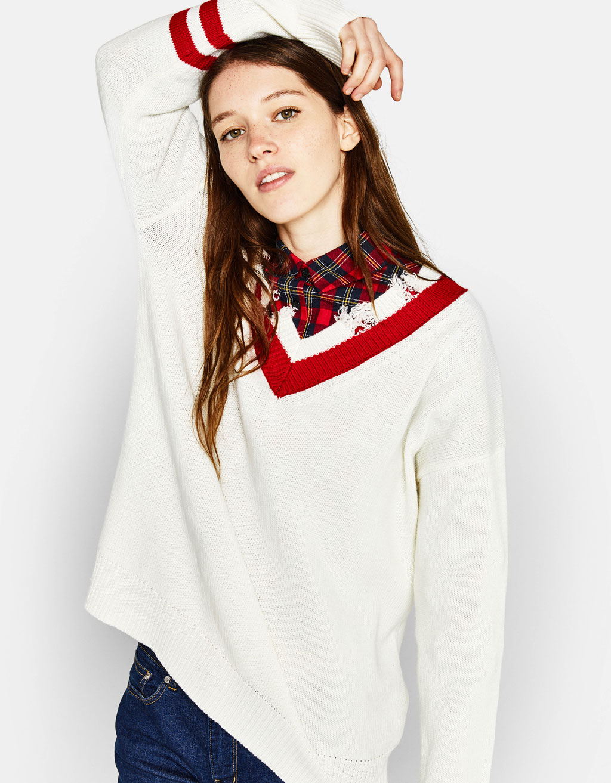 브이넥 스웨터