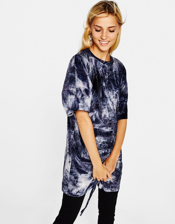 Oversized velvet T-shirt