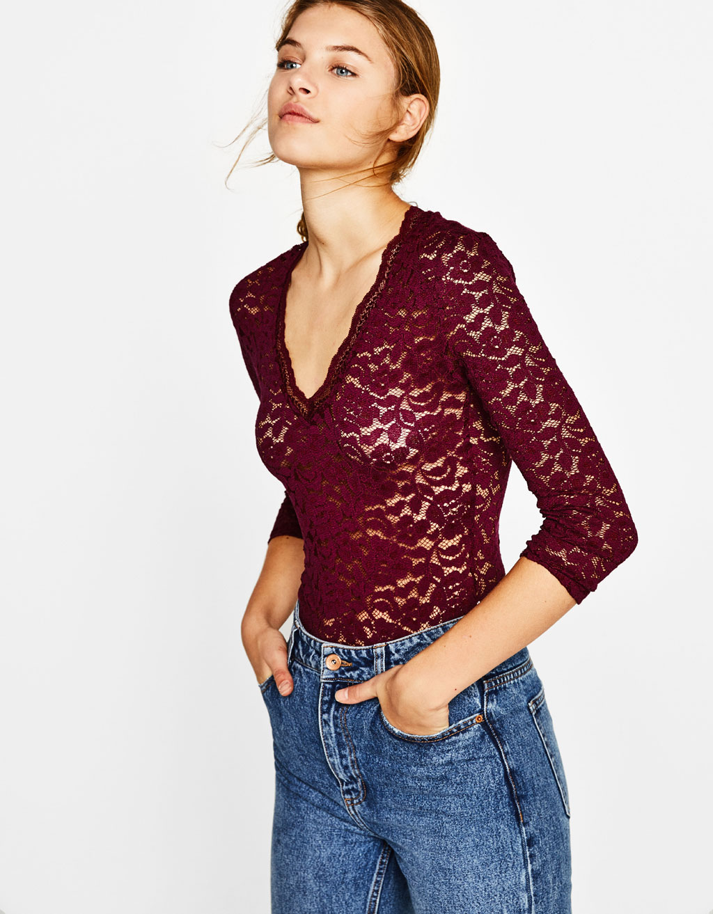 All over lace bodysuit