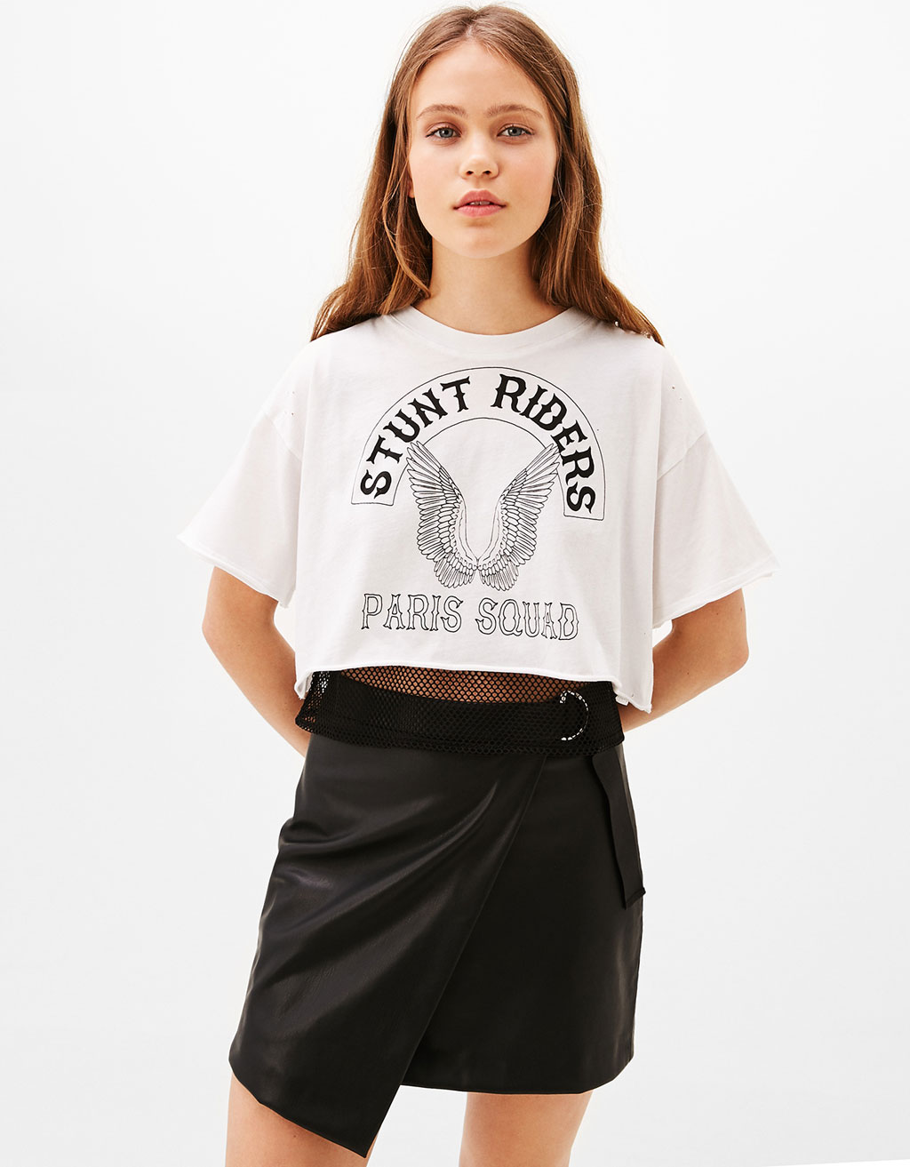 'Stunt Riders' mesh double-layer T-shirt
