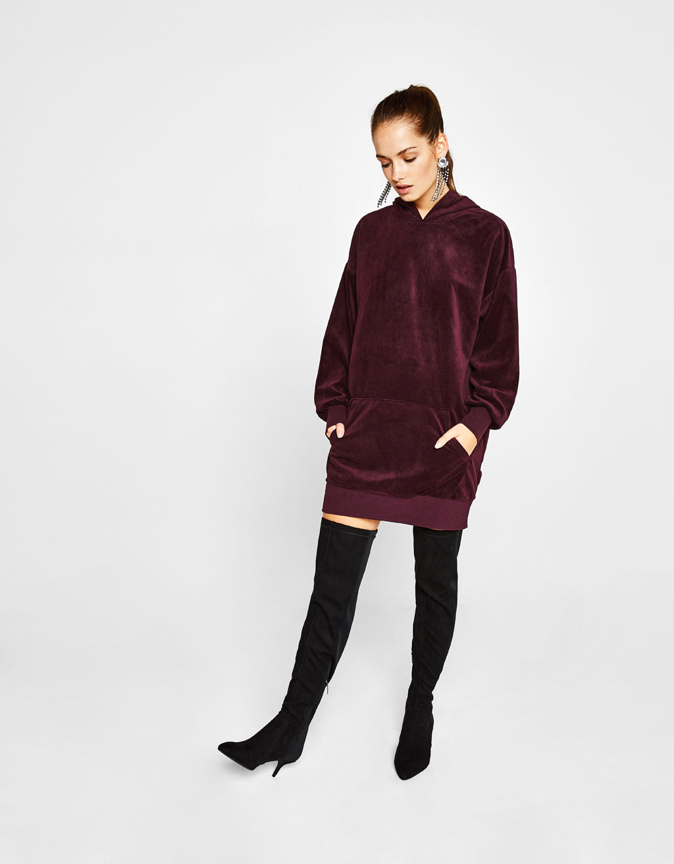 Velvet sweatshirt