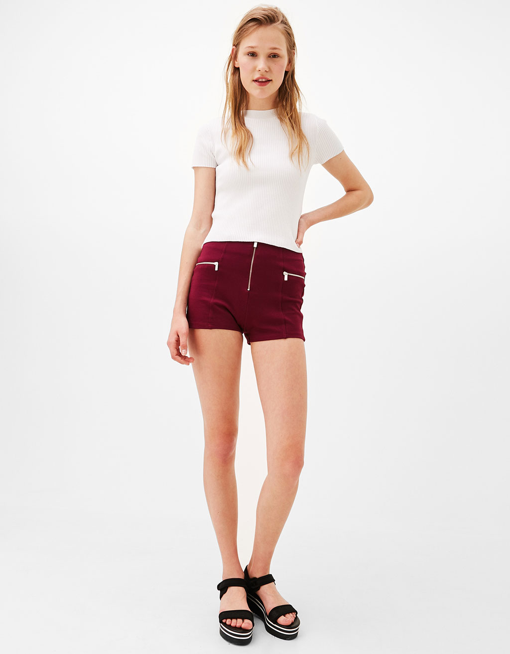 Ponte di roma shorts with zips