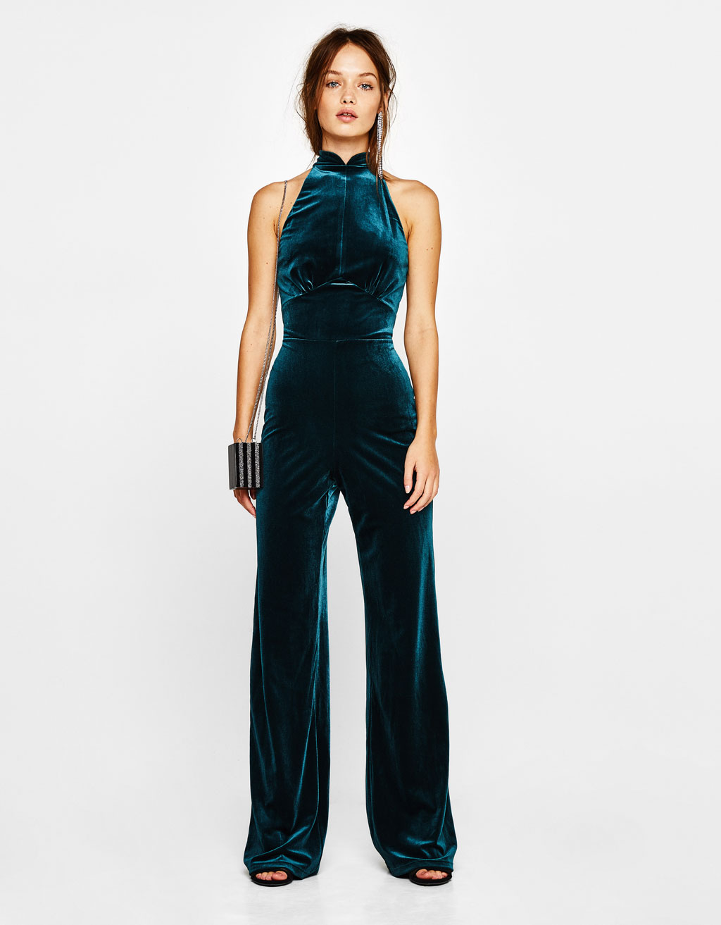 Long velvet jumpsuit