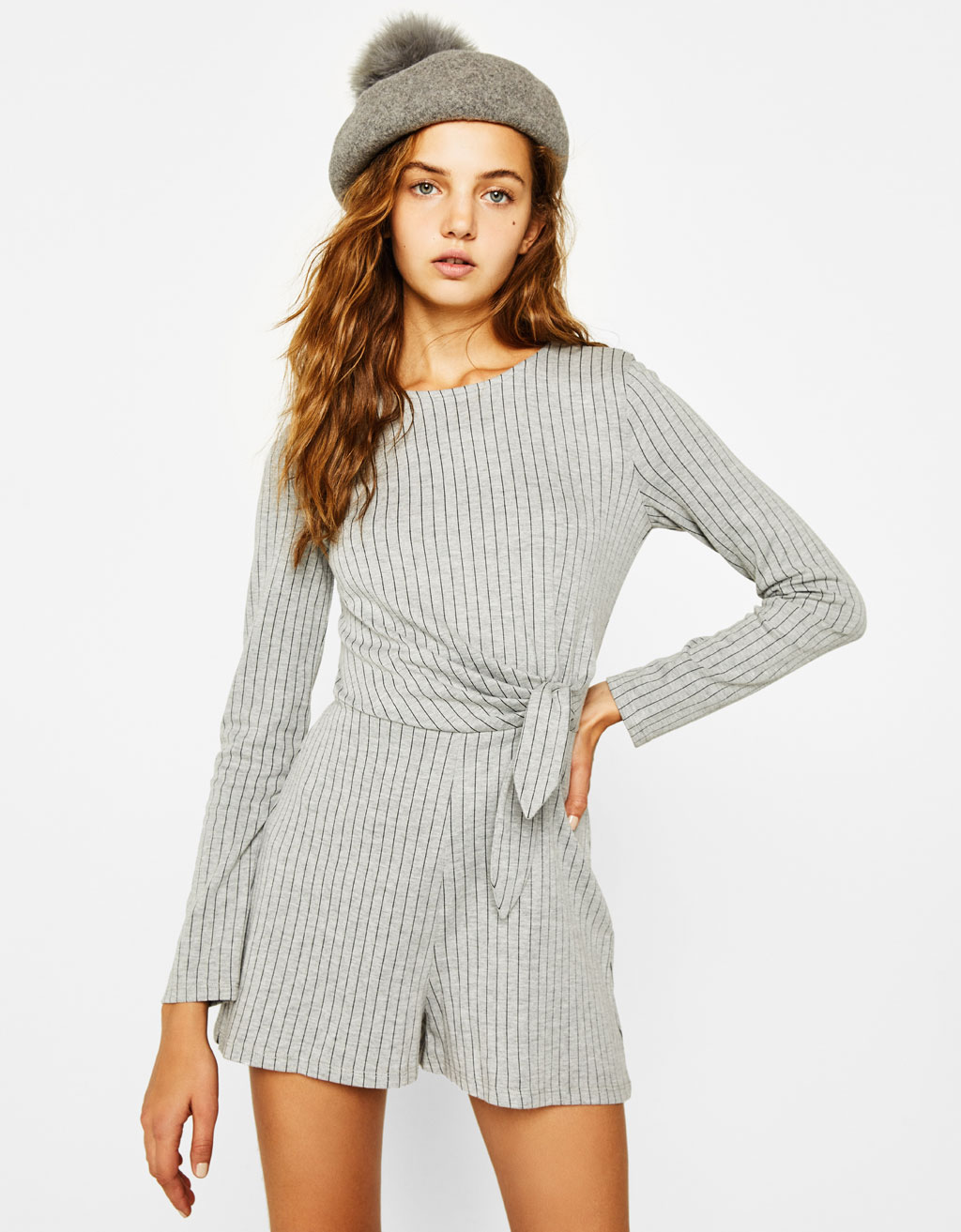 Short jumpsuit with knotted detail