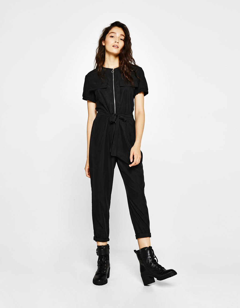 Long tencel jumpsuit