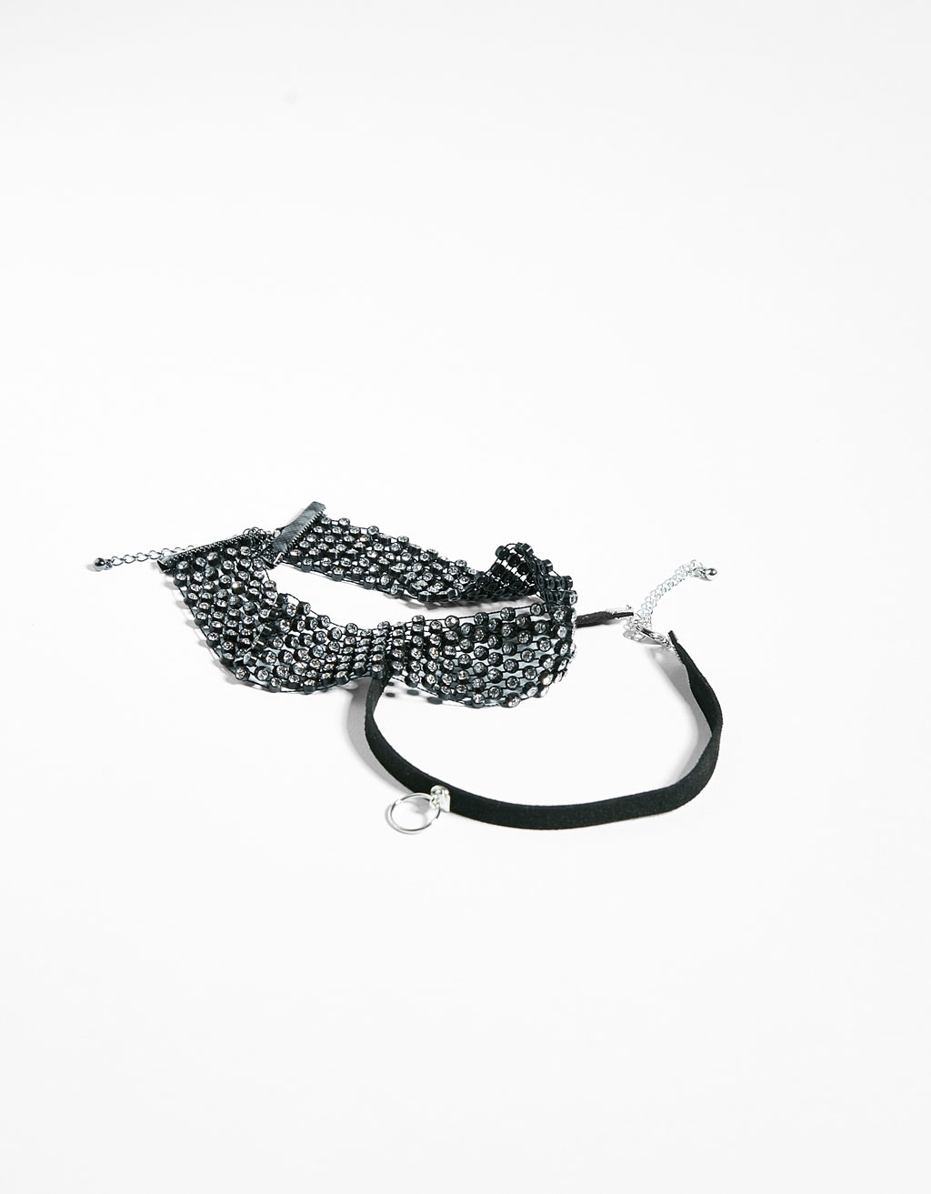 G-41 SET 2 CHOKER BRILLO P-2