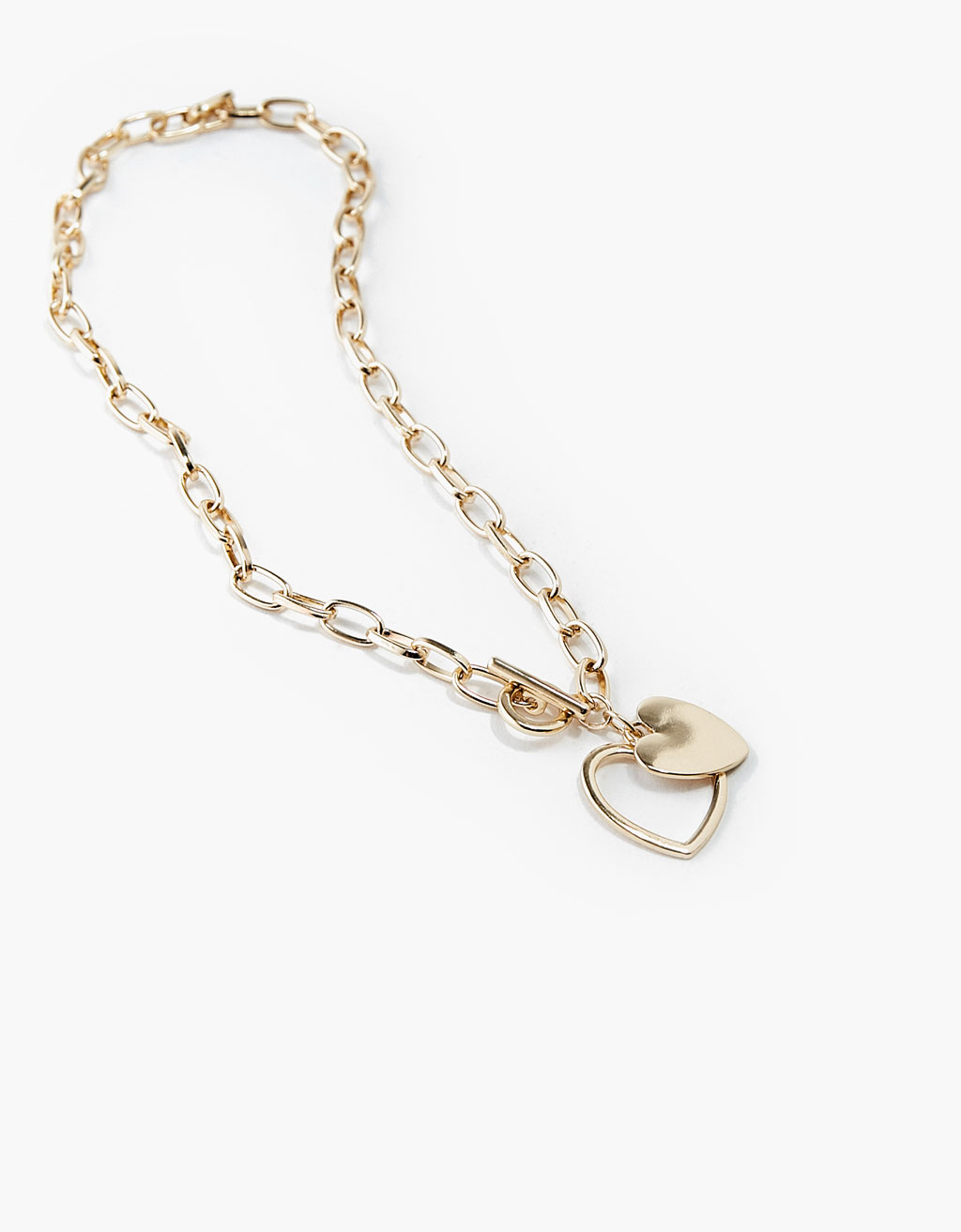 Heart and chain link necklace