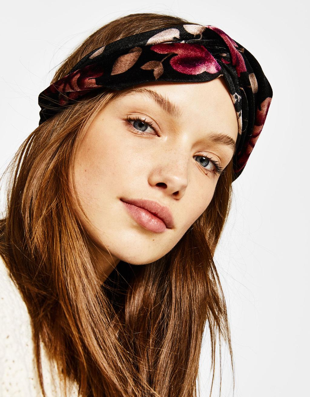 Velvet turban-style headband