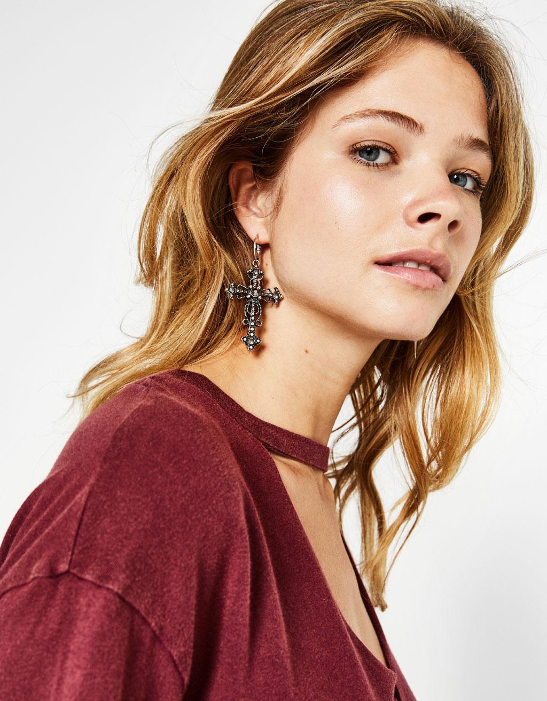 Set of cross earrings